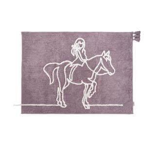 minividuals Teppich Mädchen mit Pferd