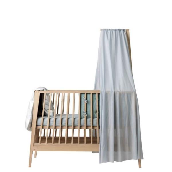 Leander Linea Babybett mit Himmel misty blue