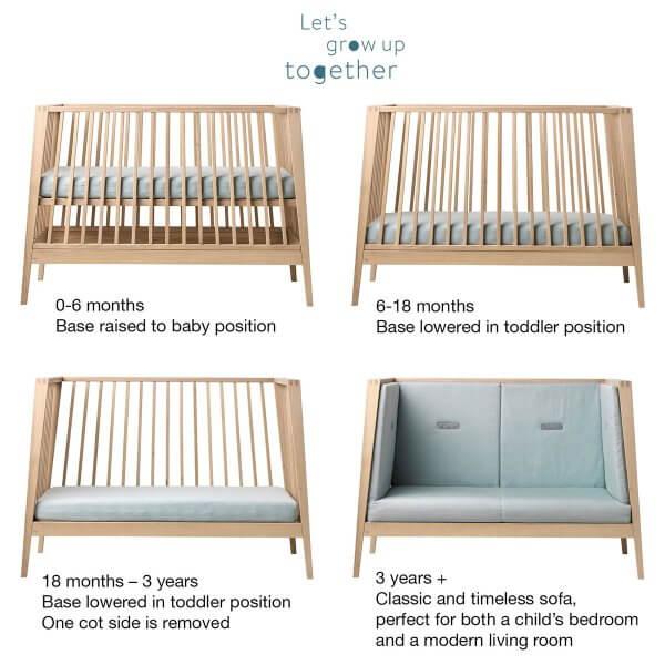 Leander Linea Babybett Aufbauvarianten