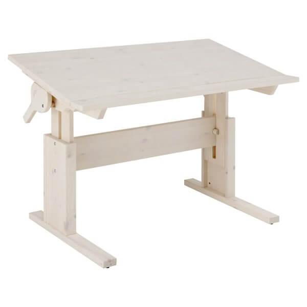 Lifetime Schreibtisch höhenverstellbar / Tischplatte neidbar white was