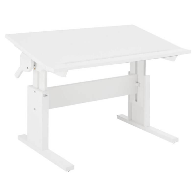 Lifetime Schreibtisch höhenverstellbar / Tischplatte neidbar weiss