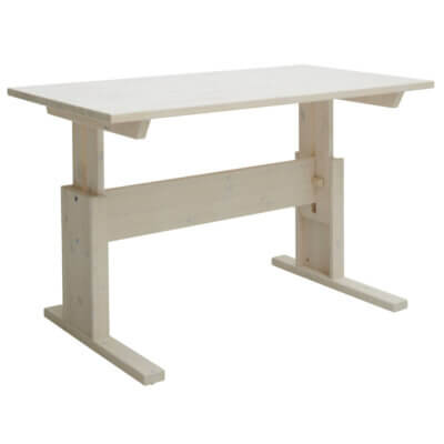 Lifetime Schreibtisch höhenverstellbar white wash