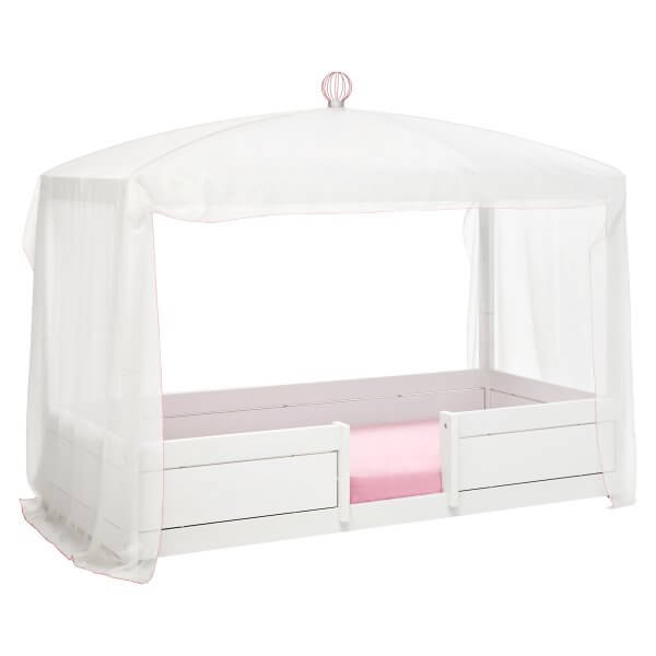 Life time Bett 4in1 weiss mit Himmel white pink