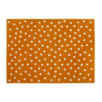 Lorena Canals Acrylteppich, orange mit weißen Punkten