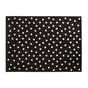 Lorena Canals Acrylteppich, dunkelbraun mit weißen Punkten