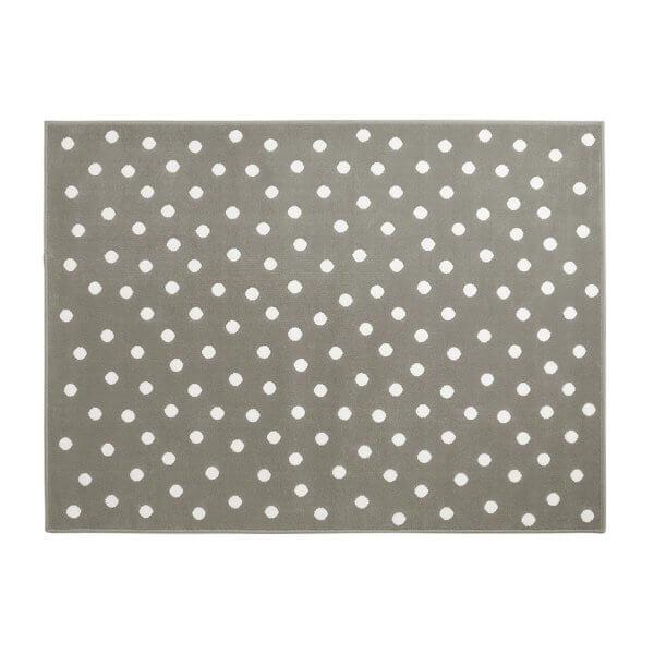 Lorena Canals Acrylteppich, grau mit weißen Punkten