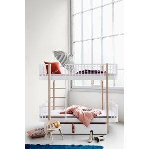 Oliver Furniture Etagenbett Wood Eiche Leiter vorne