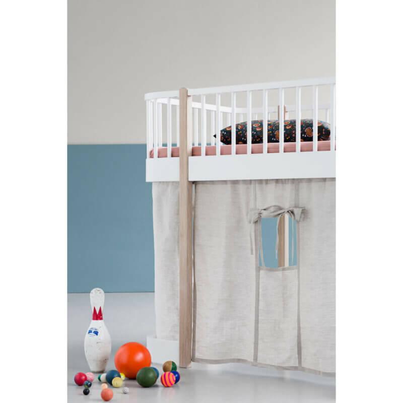 Oliver Furniture halbhohes Bett Wood Eiche