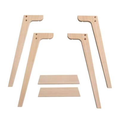 Oliver Furniture Extra Tischbeinset Wood für Tischhöhe 66 cm