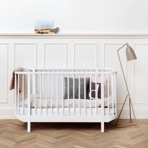 Baby- und Kinderbett Wood weiss