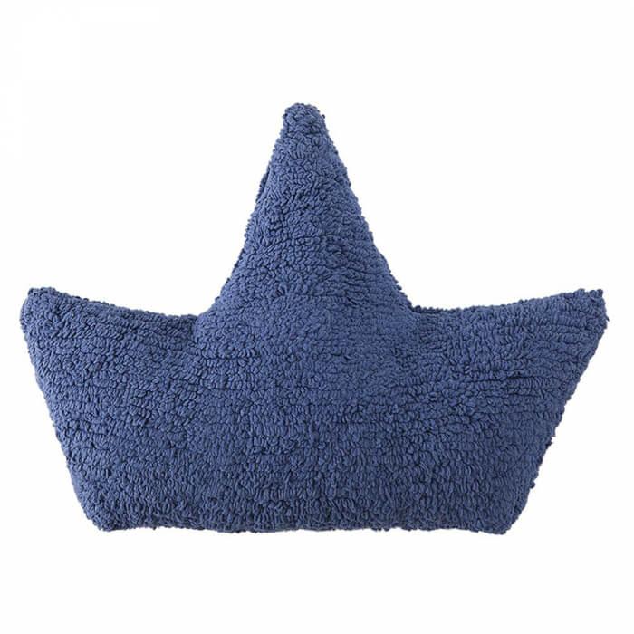 Lorena Canals Kissen Schiff dunkelblau