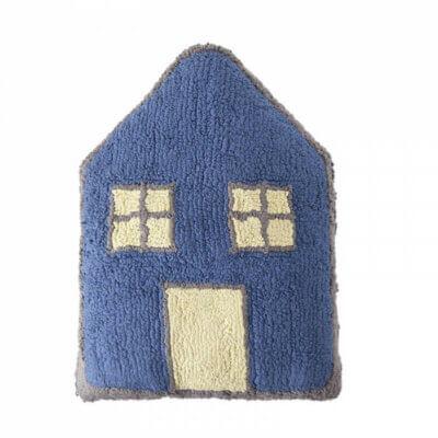 Lorena Canals Kissen Haus Nacht dunkelblau