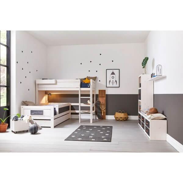 Lifetime Mittel-Hochbett mit Einzelbett